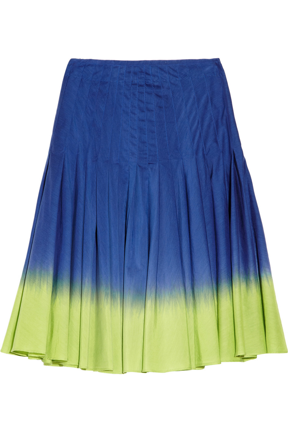 moschino cheap chic pleated dipdye cotton and silk blend