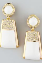 Rachel Zoe Pave Crystal Drop Clip Earrings - Lyst