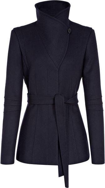 Reiss Casper Belted Wrap Collar Jacket - Lyst