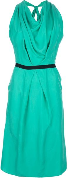 Roland Mouret Halter Dress - Lyst