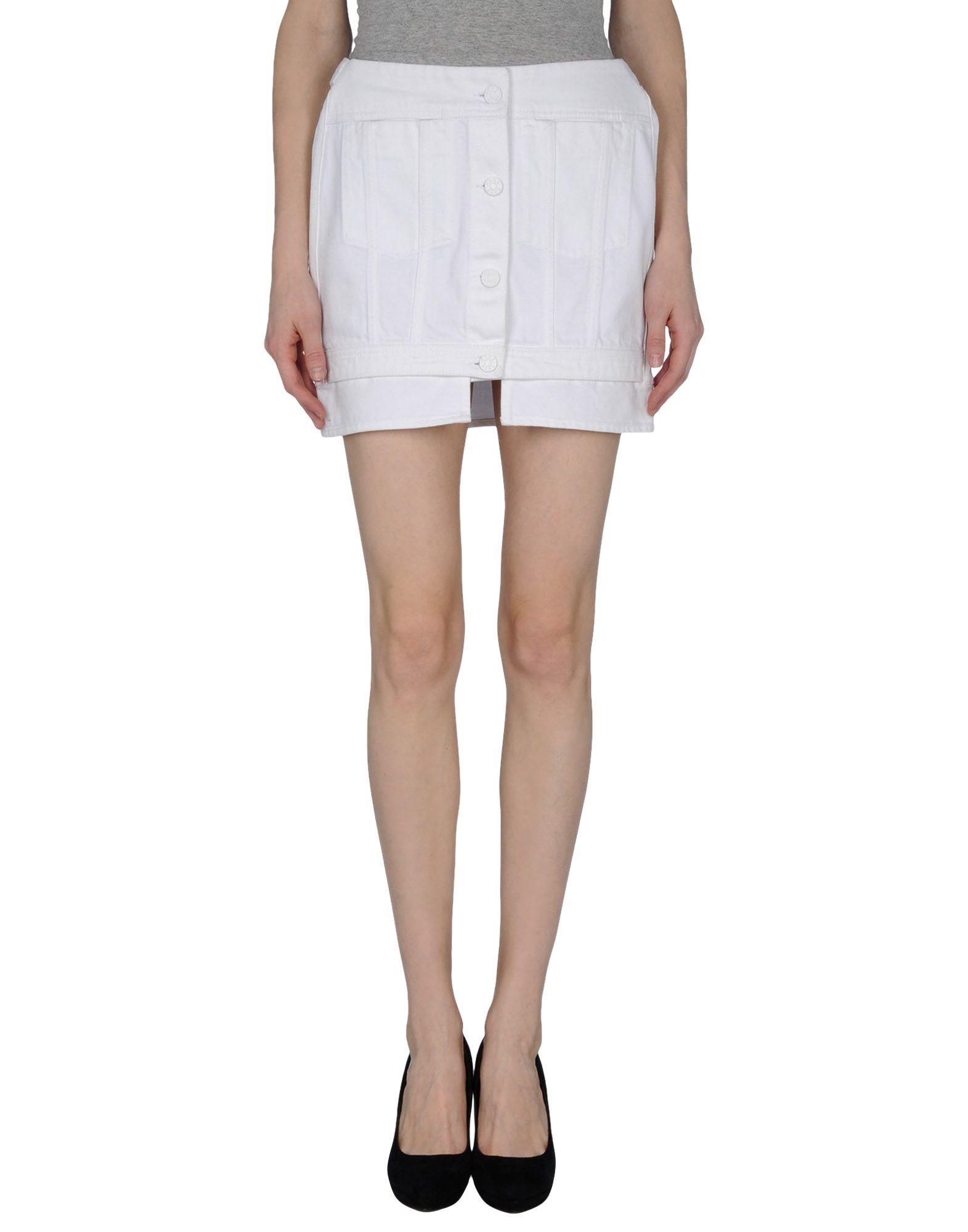 acne denim skirt in white save 22 lyst