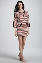 Nanette Lepore Strobe Light Striped Tunic Coverup - Lyst