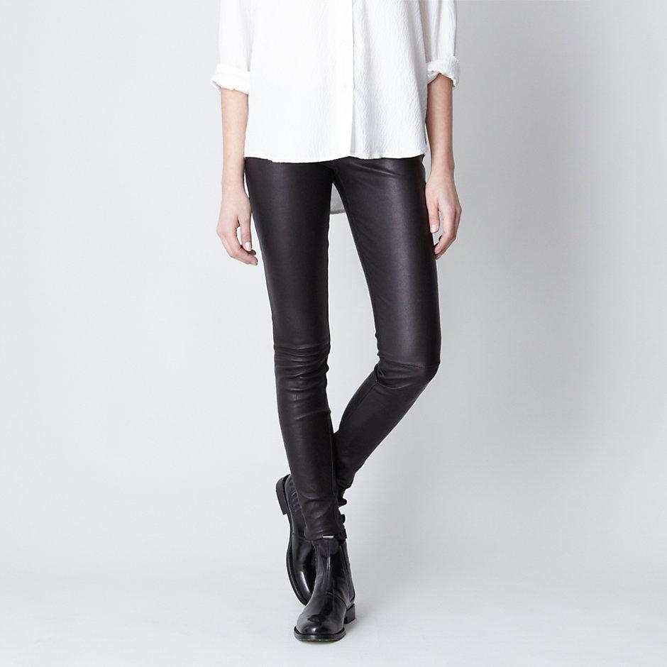 Daryl k Leather Leggings in Black