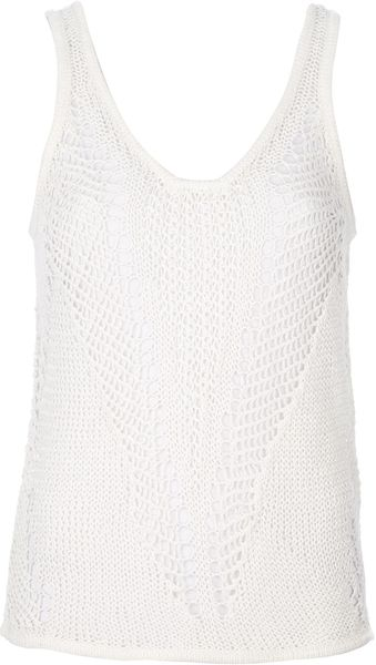 Helmut Lang Distressed Loose Knit Vest - Lyst