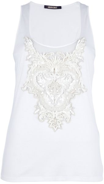 Roberto Cavalli Sleeveless Top - Lyst
