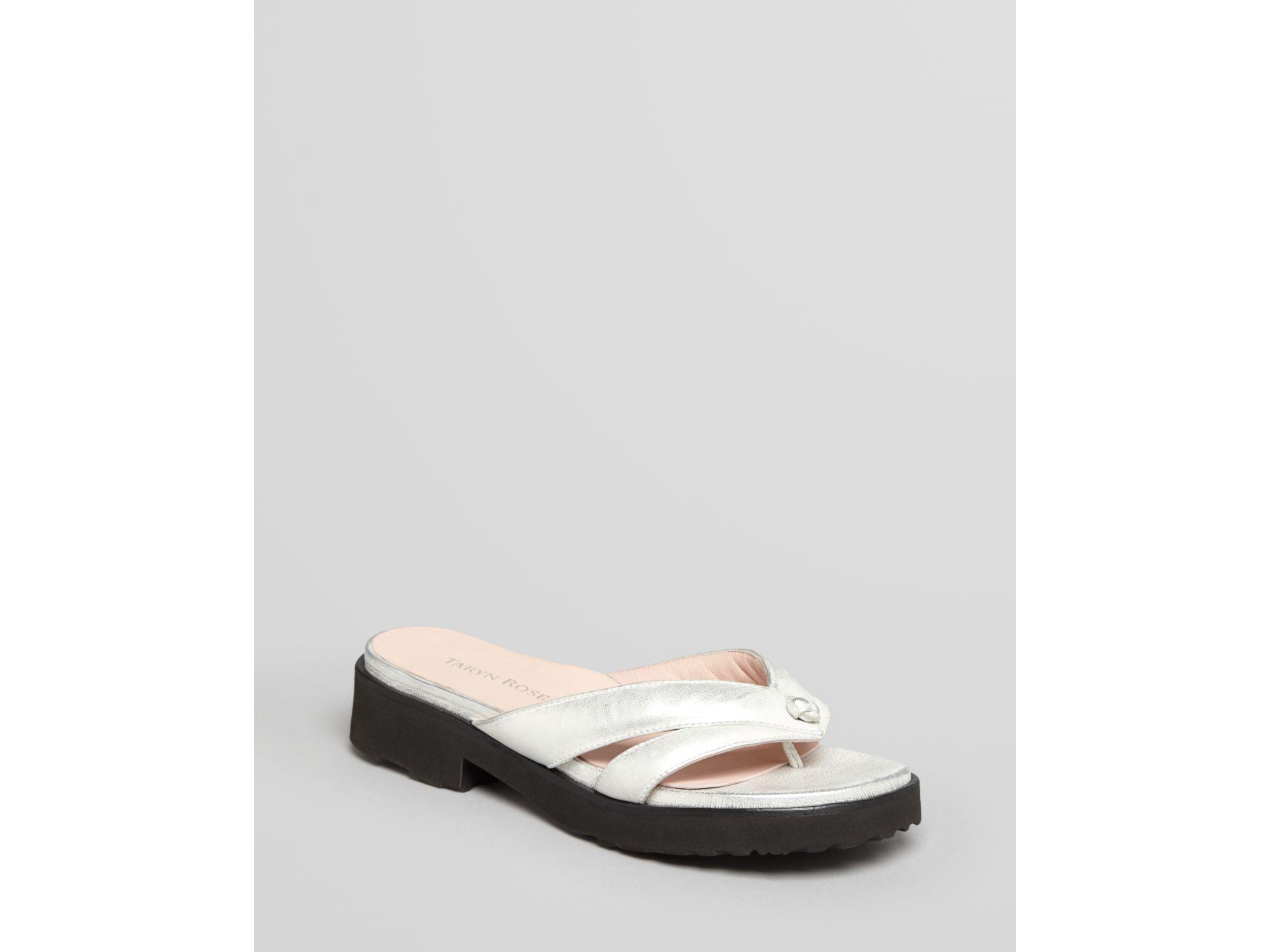 6ad55f7c05bb Lyst - Taryn Rose Platform Thong Sandals Tacy in Metallic