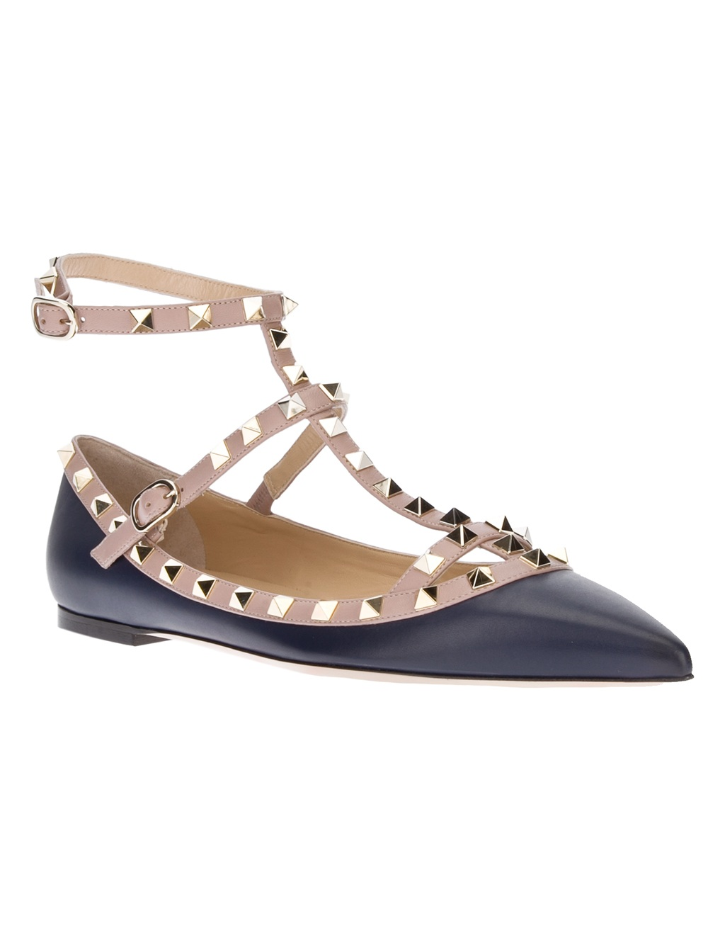 Valentino Rockstud Flat Shoes Sale