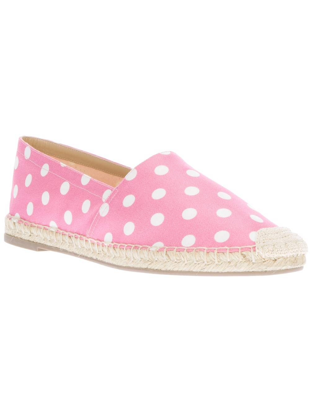 Valentino Polka Dot Espadrilles In Pink Lyst