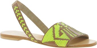 Asos Forest Leather Flat Sandals - Lyst