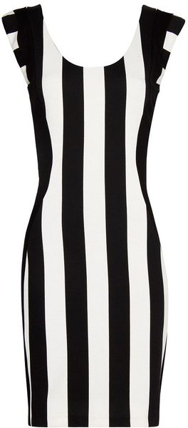 Mango Vertical Stripes Dress - Lyst