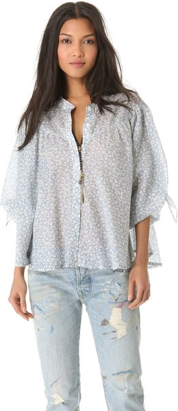 Nsf Clothing Yoli Blouse - Lyst