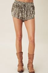 One Teaspoon Croc Vagabond Short - Lyst