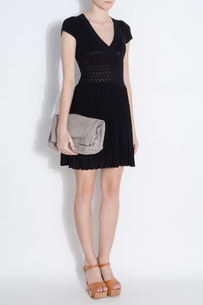 Paul Amp Joe Knit Pleat Skirt Dress In Black Lyst