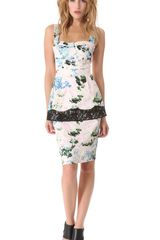 Peter Som Floral Peplum Dress - Lyst