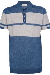 Roberto Collina Bold Striped Polo Shirt - Lyst