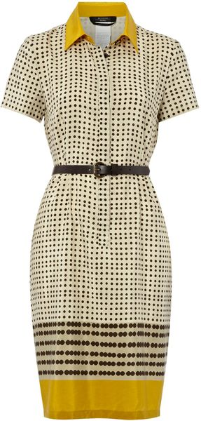 Weekend By Maxmara Boario Short Sleeved Printed Tea Dress - Lyst