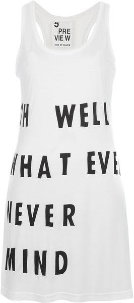 5preview Printed Long Tank Top - Lyst