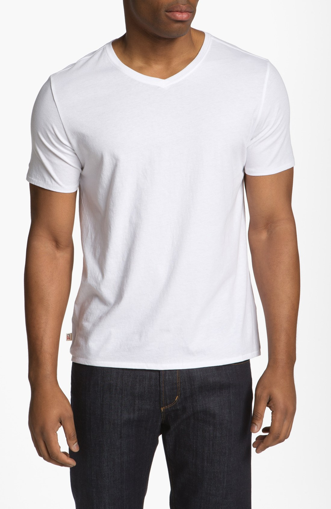 Cutter buck pearl v neck t shirt big tall in white for for Tall v neck t shirts