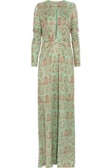 Issa Printed Silk jersey Maxi Dress - Lyst