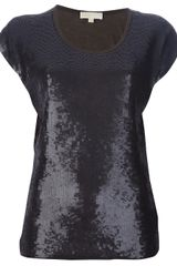 Michael by Michael Kors Sequinned Tshirt - Lyst