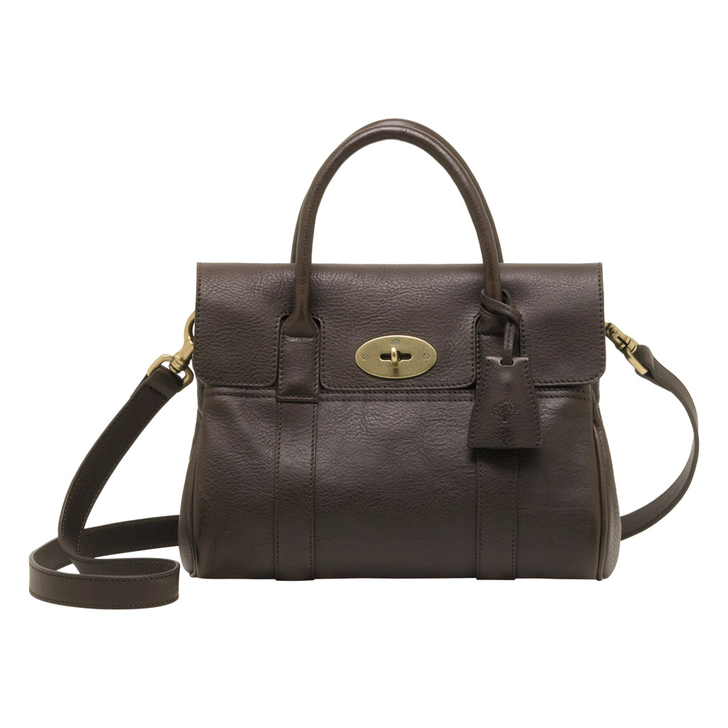 Mulberry small bayswater satchel in brown chocolate for The bayswater