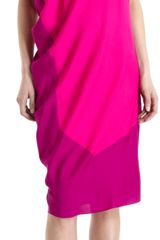 Narciso Rodriguez Cap Sleeve Side Drape Dress - Lyst