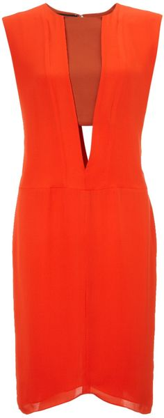 Narciso Rodriguez Zest Silk Cutout Dress - Lyst