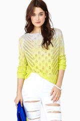Nasty Gal Electric Dusk Knit Lime - Lyst