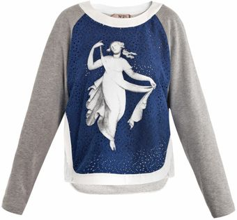 No 21 Vestale Print Sweater - Lyst