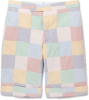 Thom Browne Multicolour Cotton Suit Shorts - Lyst