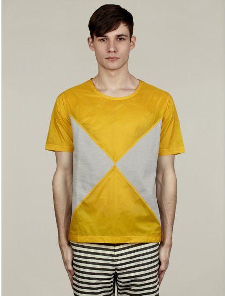 Originals X Opening Ceremony Mens Reverse Block Tshirt in Yellow for Men