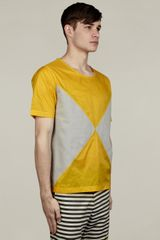 Adidas X Opening Ceremony Mens Reverse Block Tshirt in Yellow for Men - Lyst