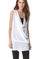 Costume National Asymmetrical Draped Top - Lyst