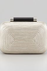 Diane Von Furstenberg Tonda Small Metallic Clutch Bag Light Gold - Lyst