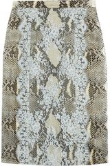 Erdem Ari Python Print Satin and Lace Pencil Skirt - Lyst
