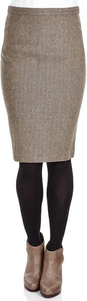 Givenchy Wool Knee Length Skirt  - Lyst