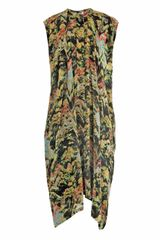 Kenzo Forest Print Hammered Satin Dress - Lyst