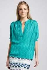 M Missoni Textured Vneck Knit Sweater - Lyst