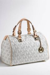 Michael by Michael Kors Large Grayson Satchel Handbag - Lyst