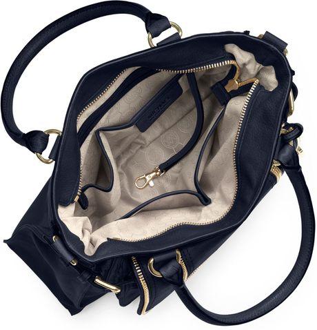 Get Michael Kors Naomi Satchels - Bags Michael Kors Large Naomi Satchel Navy