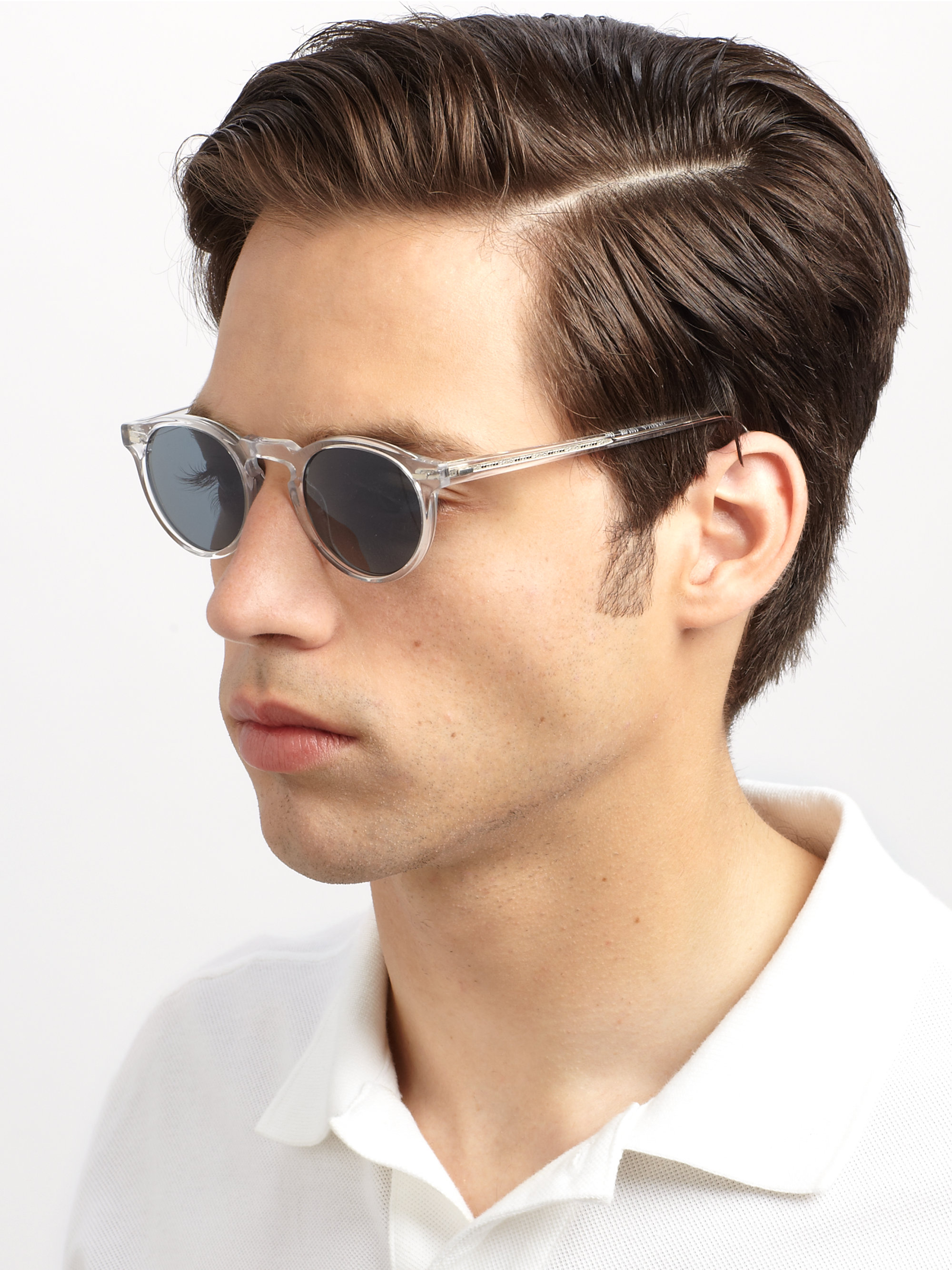 Lyst Oliver Peoples Gregory Peck Sunglasses In Blue For Men