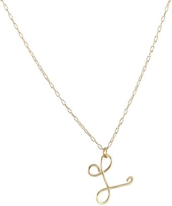 Peggy Li Cursive Initial Necklace - Lyst