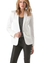 Pierre Balmain Satin One Button Blazer - Lyst
