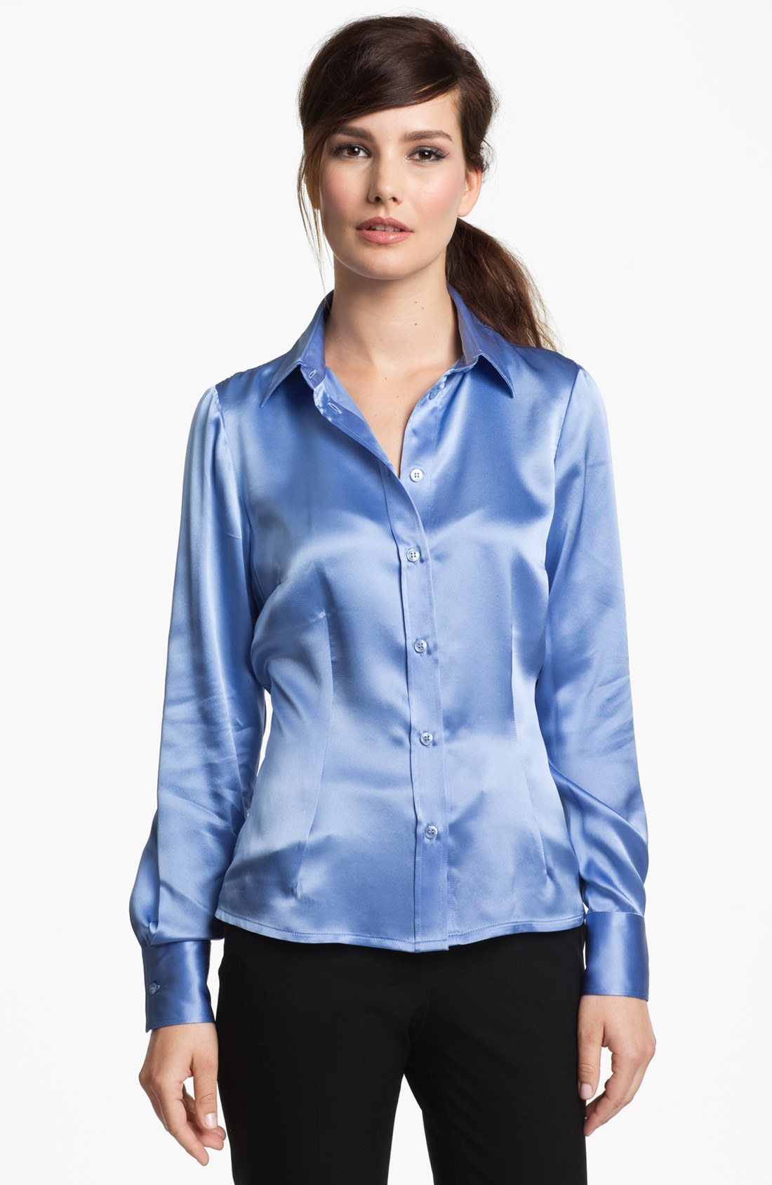 Women'S Shirt Blouse In Cornflower 3