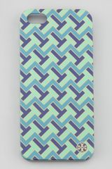 Tory Burch Tzag Printed Hard Shell Iphone 5 Case - Lyst