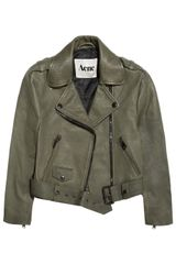 Acne Mape Cropped Lizardeffect Leather Jacket - Lyst