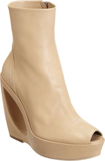 Ann Demeulemeester Cut-Out Wedge Ankle Boot - Lyst