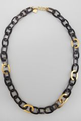 Ashley Pittman Bronze Horn Link Necklace - Lyst