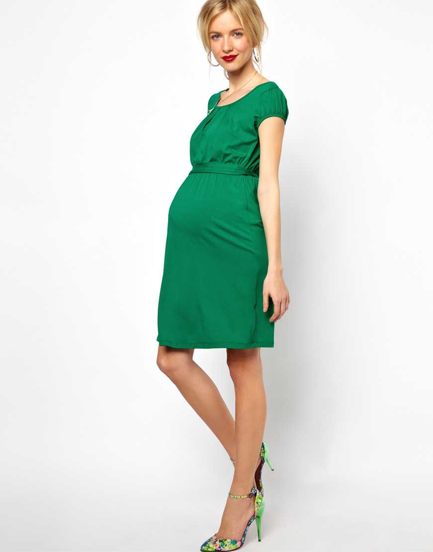 Lyst Asos Maternity Exclusive Kate Dress With Belt And