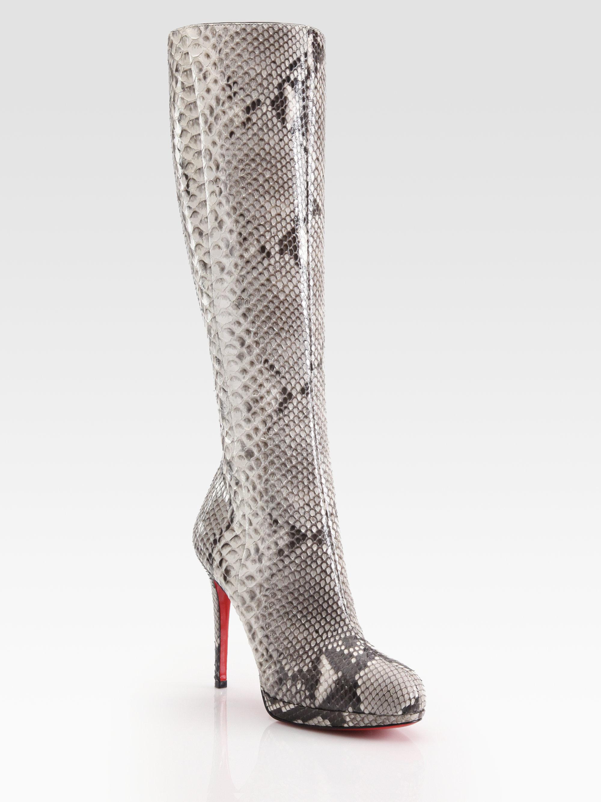 louboutin crocodile boots